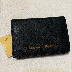 NWT Michael Kors Jet Set MD Slim Bifold Wallet